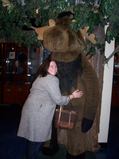 Oh, you know, just hugging a moose because that's apparently what I do in Canada.