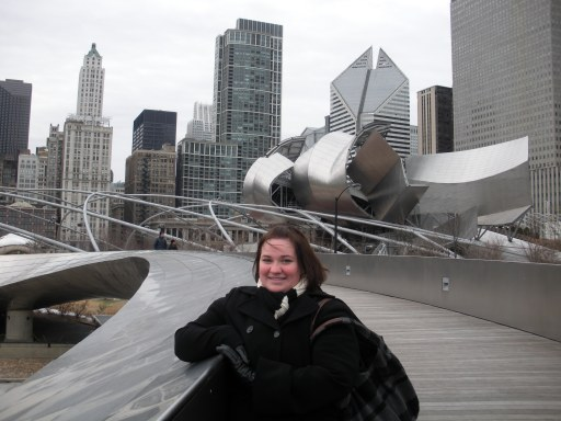 Freezing on New Year's Day 2009 in the Windy City!