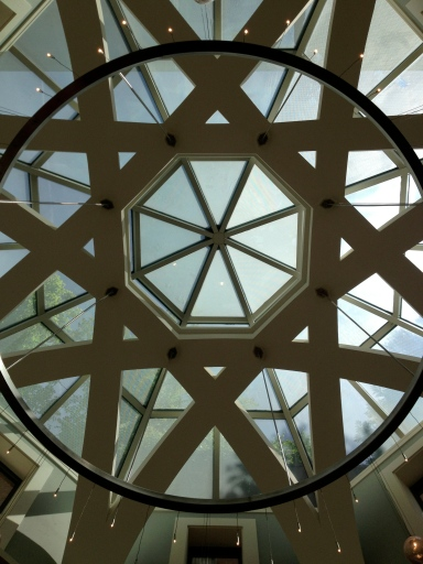 A glass ceiling at the Turkish Embassy