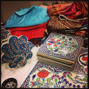Some wares for sale at the Turkish Embassy's open house