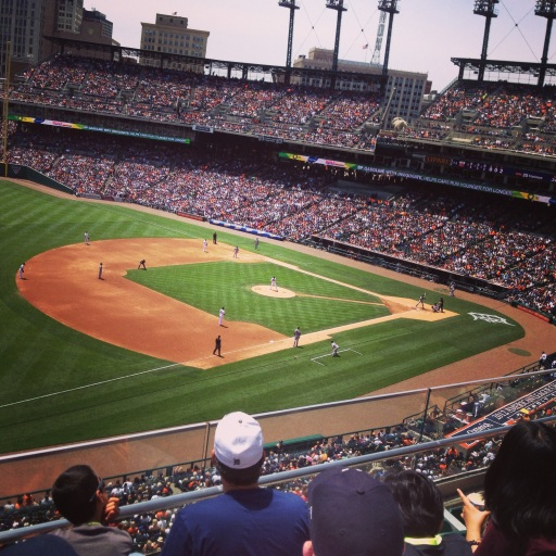 Since 2000, the Detroit Tigers have played at Comerica Park in downtown Detroit.