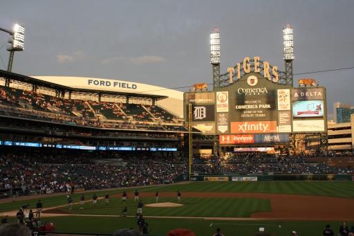 Comerica Park in Detroit. Go Tigers!