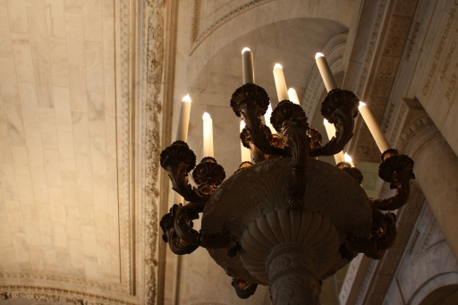 A candelabra at the library