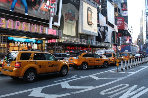 Times Square and taxicabs. How touristy of me.