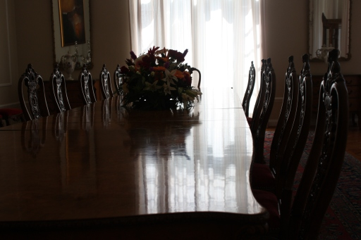 The dining room for formal state dinners