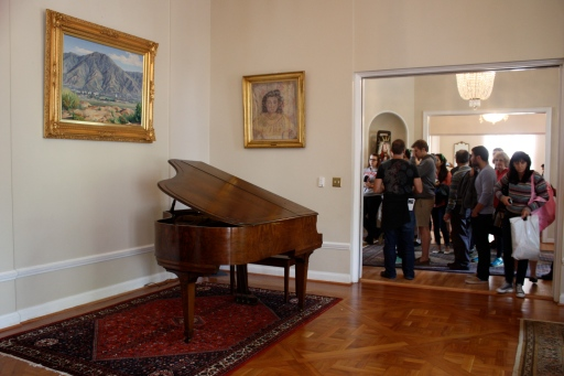 The more informal parlor at the embassy