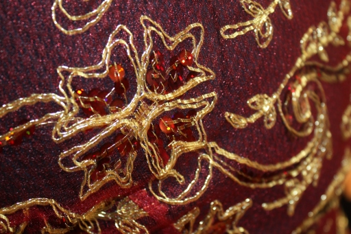 Here is a closer look at the detail. Pretty elaborate detail, right? (Photo by Amanda Lewis.)