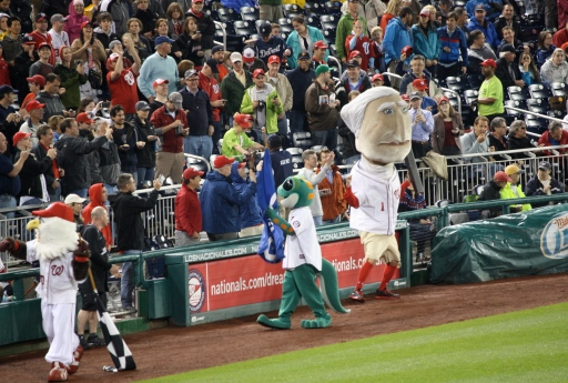 George hangs with the crowd at Nats Park