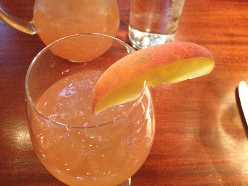 The Hamilton's white peach sangria is a refreshing summer cocktail.