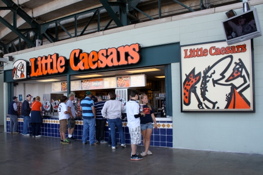 Little Caesars shares the same owner as the Detroit Tigers and the NHL's Detroit Red Wings.