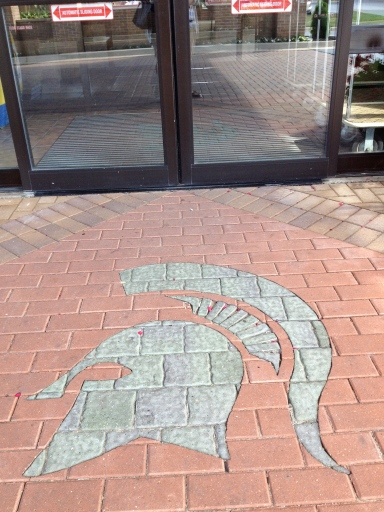 Just in case you forgot where you are, just look down. Now, Sparty on.