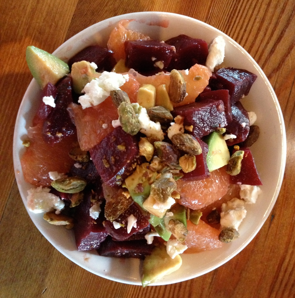 Beets and Grapefruit Salad at Grand Rapids Brewing Company.