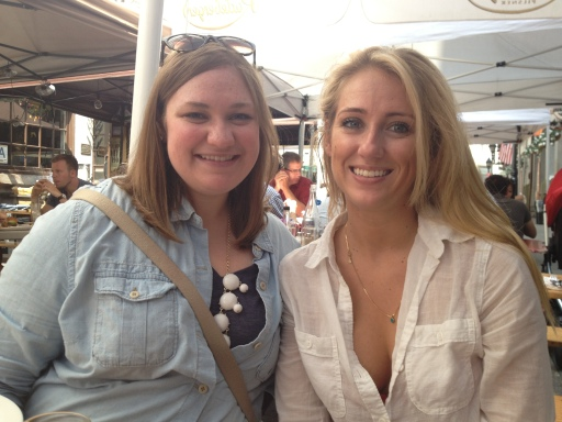 My sister, right, and I brunching at Stone Street Tavern.