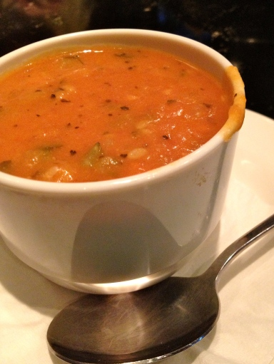 I highly recommend the thick Minnestrone soup at Buddy's Pizza.
