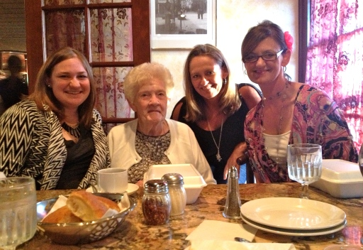 Family dinner with my grandma and cousins, Jeni and April, at Antonio's in Dearborn Heights, Mich.
