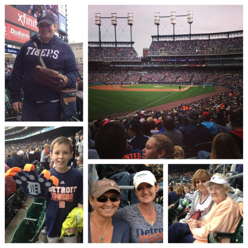 My family at Comerica Park!