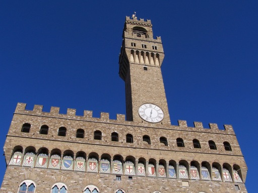 Palazzo Vecchio, the town hall in Florence, in May 2006.
