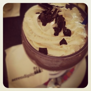 Frozen hot chocolate at Serendipity 3 in Georgetown. Utterly delectable.