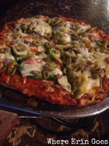 Veggie pizza at The Bird. Yum!