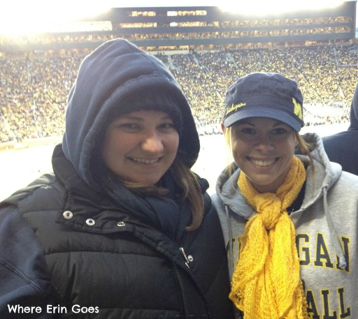 My friend, Ashley, and I bundled up with multiple layers, scarves, hats and gloves. And, we were still cold!