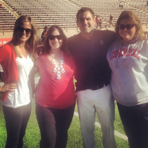 Ashlyn, me, Mike and Amanda on the field after the Cornell V. Harvard football game on Saturday, Oct. 12.