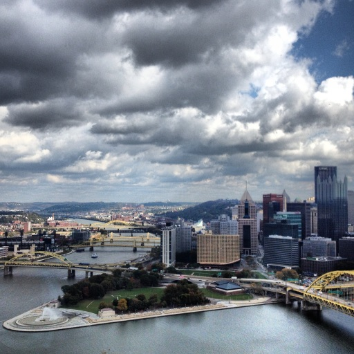 Instagram shot of downtown Pittsburgh from lunch at the Grandview Saloon.