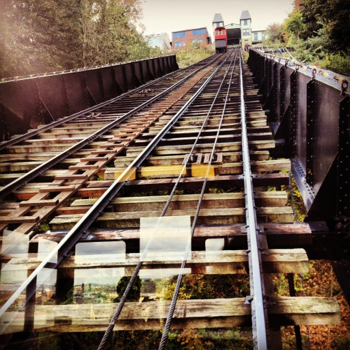 Riding the Duquesne Incline up Mount Vernon! (Instagram photo.)