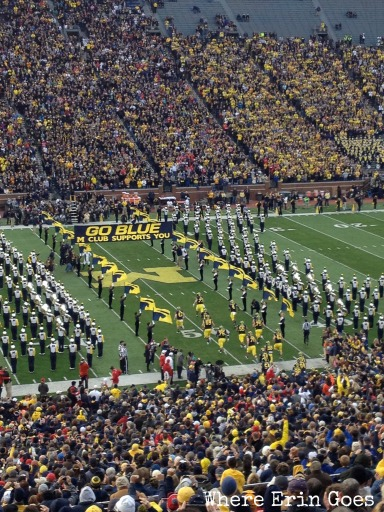 The Michigan Wolverines run onto the field Nov. 9 at The Big House. Let's Go Blue!