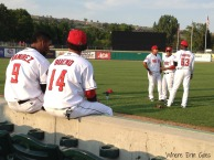 Billings Mustangs players before the game