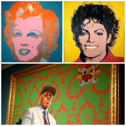 Portraits of famous Americans include film and music stars Marilyn Monroe, Michael Jackson and LL Cool J at the National Portrait Gallery in Washington, D.C.