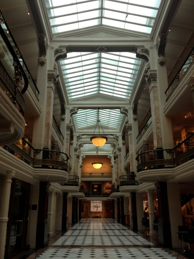 Inside the National Portrait Gallery and Smithsonian American Art Museum complex in Washington, D.C.