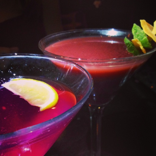 Fruity, girly, pink martinis!