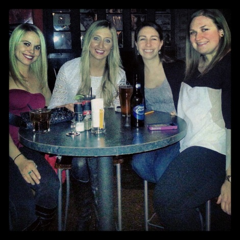 My girls in GR! Ashley, Andrea, Katie and I at Bobarino's for drinks, dancing and dueling pianos.