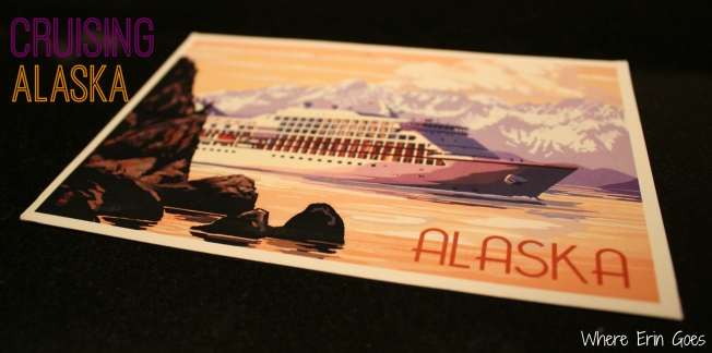 """This is what our ship looked like in Glacier Bay,"" Amanda wrote to me on this postcard."