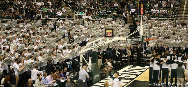 "As the Illinois starting lineup is announced, the Izzone says, ""Who cares?"""