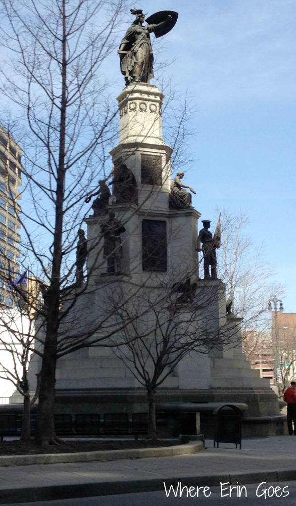The Michigan Soldiers and Sailors Monument at Campus Martius on Woodward Avenue in Detroit. (Photo by Erin Klema.)