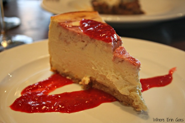 A raspberry swirl cheesecake was the chef's special when I dined at The Grille Midtown. So yummy! (Photo by Erin Klema)