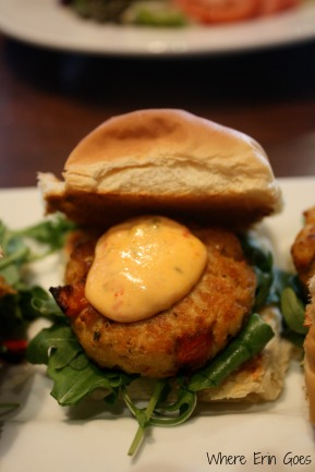 Crab cake slider at The Midtown Grille. (Photo by Erin Klema)