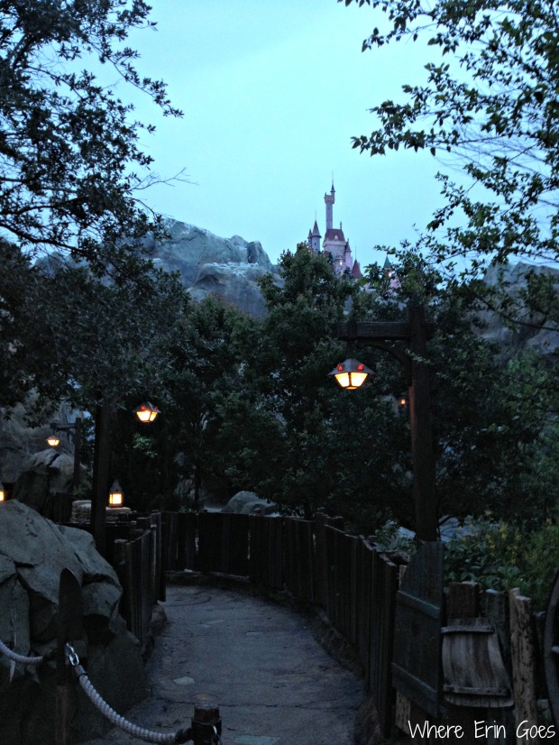 Fantasyland visitors will see the Beast's Castle in the distance. The castle has 115 windows! (Photo by Erin Klema)