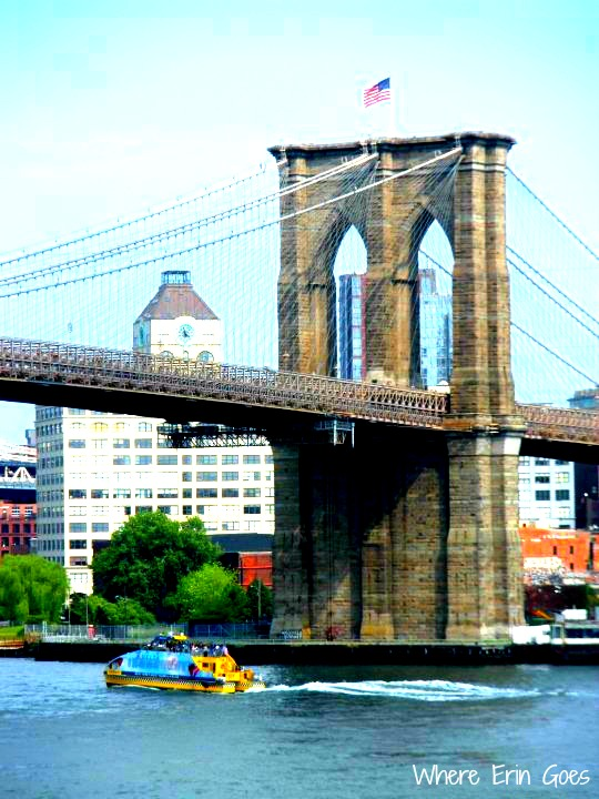 A view of the Brooklyn Bridge from the South Street Seaport. (Photo by Erin Klema)