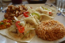 Fish tacos at Frida Mexican Cuisine in Dearborn, Mich. (Photo by Erin Klema)