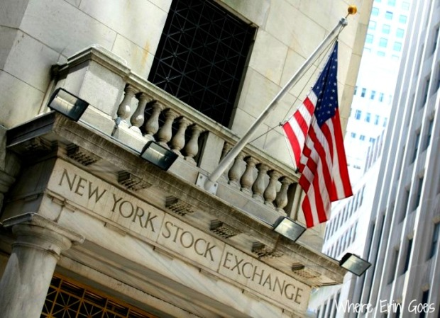 The New York Stock Exchange is located on Wall and Broad streets. (Photo by Erin Klema)