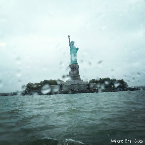 A view of the Statue of Liberty from the ferry to Liberty Island. (Instagram photo by @erinklema)