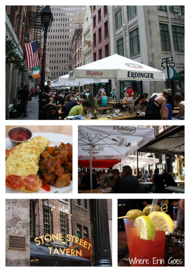 Stone Street is the perfect downtown locale for a casual night out or a boozy brunch! (Photo collage by Erin Klema)