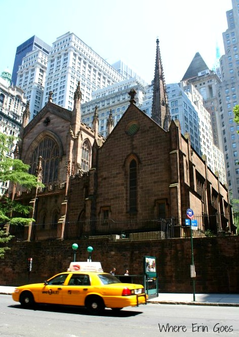 Located at Wall Street and Broadway, Trinity Church was the tallest building in New York when it was built in 1846. (Photo by Erin Klema)