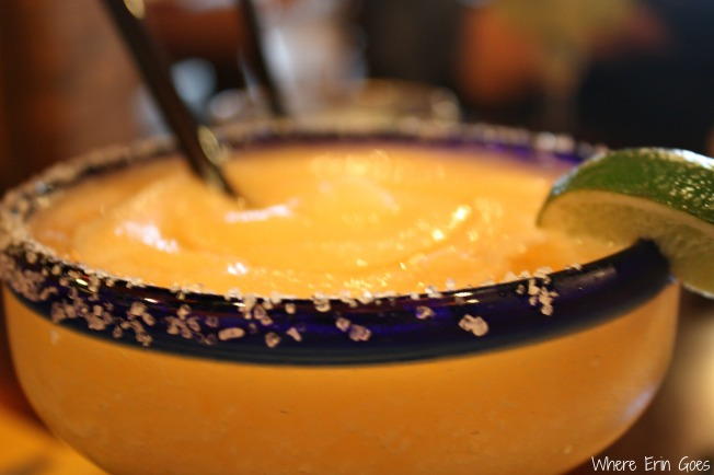 The Georgia Peach, a sweet and fruity frozen margarita, at El Patron. (Photo by Erin Klema)