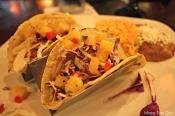 The Del Mar, shrimp tacos, at El Patron is delicious. (Photo by Erin Klema)