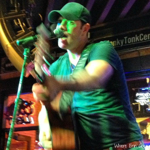 "Singing ""Wagon Wheel"" at Honky Tonk Central (Instagram via @erinklema)"