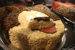 Mickey Mouse Rice Krispies Treat cake!