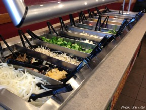 The veggie bar is full of healthy options, making Mongo a great place for vegetarians and eaters with other dietary concerns. (Photo by Erin Klema)